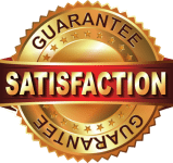 Satisfaction Guarantee logo - CAM Walkers - aka Moon Boots