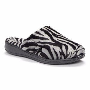 gemma dark zebra 300x300 - Gemma Mule Slippers