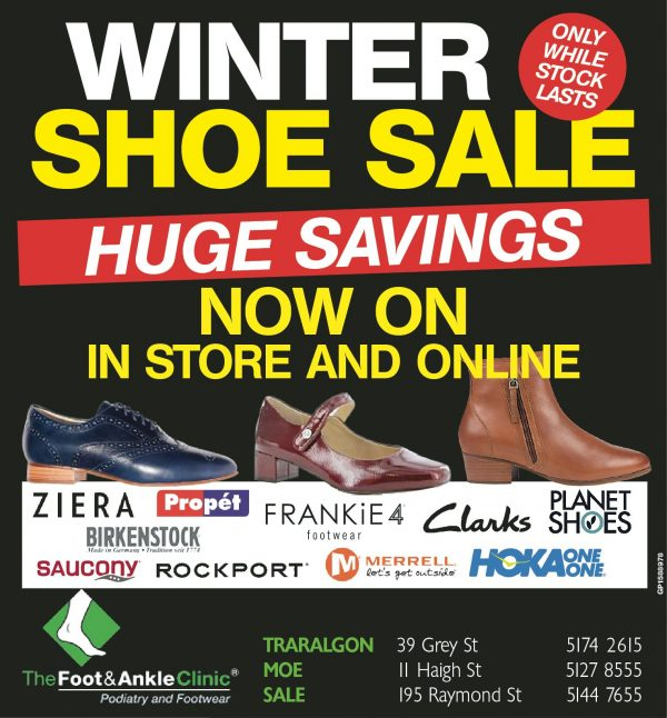Winter Shoe Sale NOW ON 600x646 - Welcome to your local Foot and Ankle Clinic: <br>Victoria's leading Podiatry service